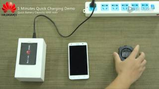 Huawei five minutes battery quick charging demo