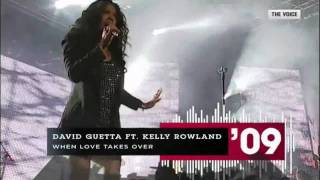 David Guetta ft. Kelly Rowland - When Love Takes Over (live at the voice 09) [HD]