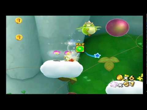 Super Mario Galaxy 2 Green Stars - Honey Bloom Galaxy Star ...