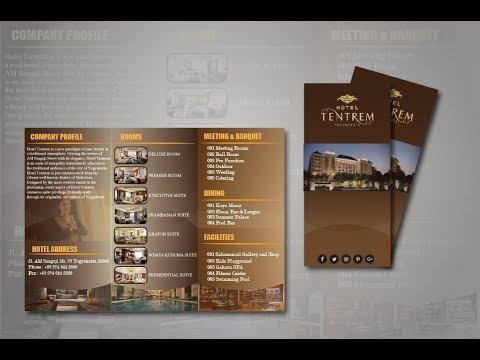 Adobe Illustrator Graphic Design ~ How to Create Trifold Elegant Tentrem Hotel Brochure Design