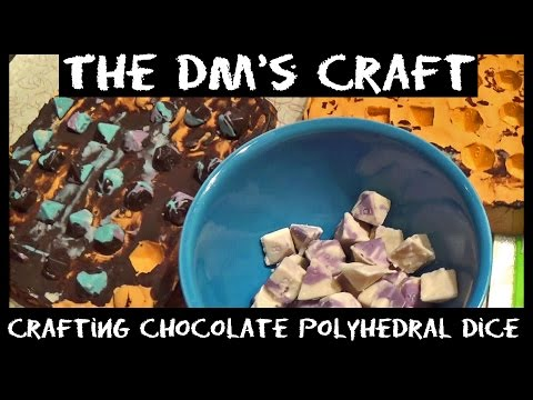 Crafting Chocolate Polyhedral DnD Dice with Dana (DM's Craft)