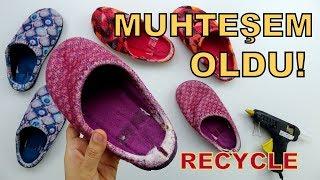 YIRTIK TERLİKTEN DİLİNİZİ YUTACAĞINIZ DÖNÜŞÜM! (Eski Terliklerin Dönüşümü) Recycling Of Old Slipper