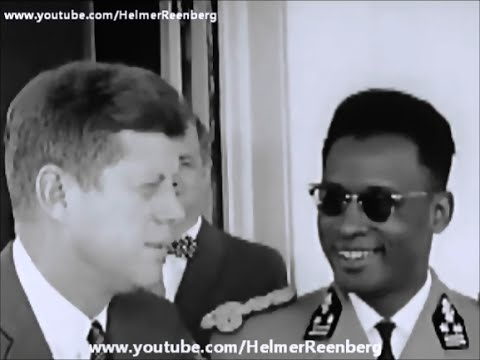 May 31, 1963 - President John F. Kennedy meets Major General Joseph Mobutu of Congo