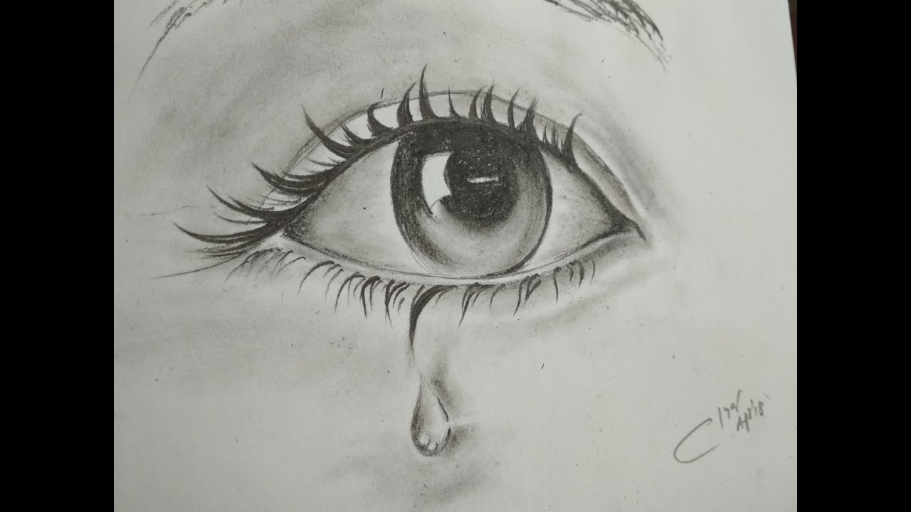How To Draw Eyes With Tears Easy To Learn Step By Step
