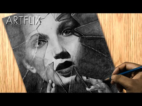Drawing Creative Portrait #5 | Beautiful Portrait | ArtFlix