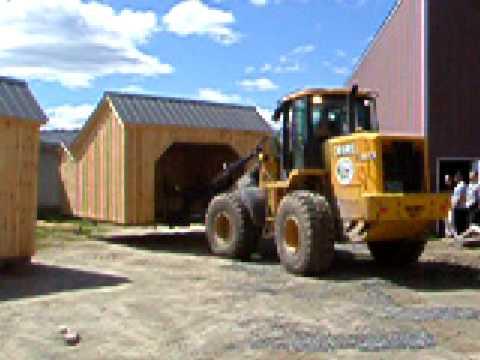 Building Move Shed Sheds Moving Horse Barn Loader John Deere Fork Lift
