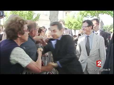 Nicolas Sarkozy agressé physiquement..