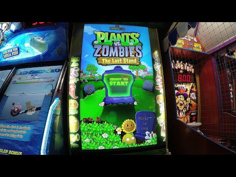 Plants Vs  Zombies The Last Stand Arcade Game Adult Vs Kids