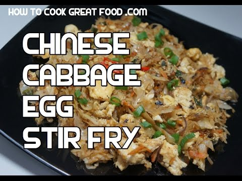 Chinese cabbage egg stir fry recipe wok video youtube forumfinder Image collections
