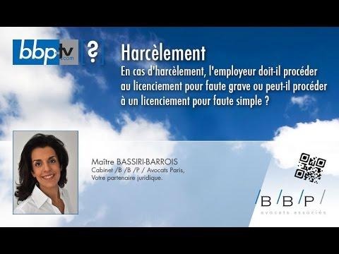 Avocat Paris - Harcèlement et licenciement