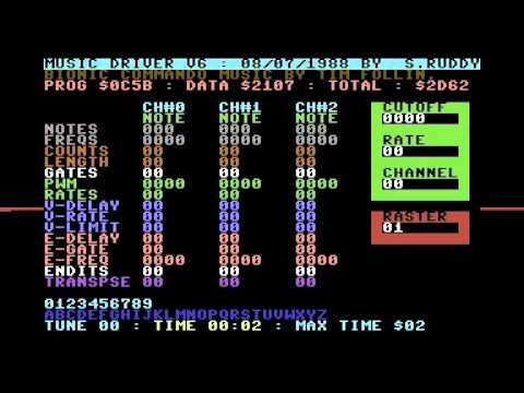 Software Creations music driver development on Commodore 64