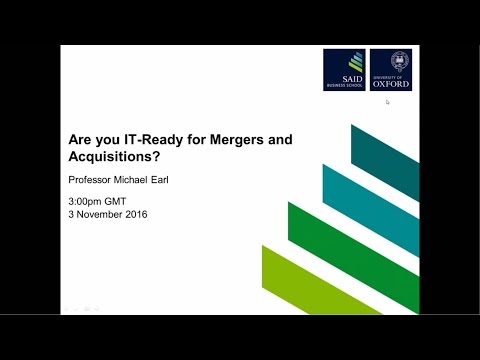 Are you IT-Ready for Mergers and Acquisitions? Webinar 3/11/16