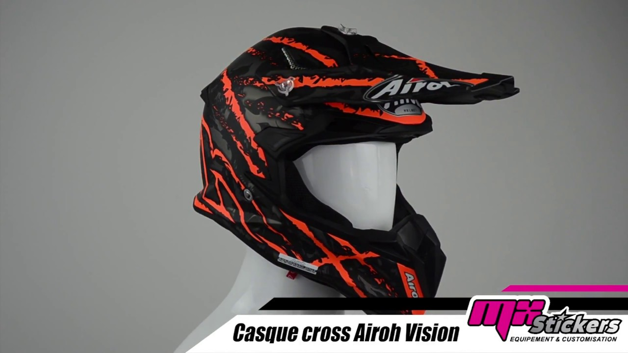 Casque Moto Cross Airoh 2019 Terminator Mx Stickers Youtube