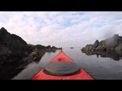 Sea kayaking in Sandgreen, Dumfries & Galloway, March 2016