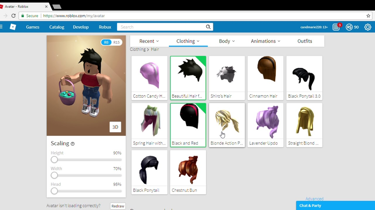How To Put On 2 Hair On Roblox 2018 Youtube