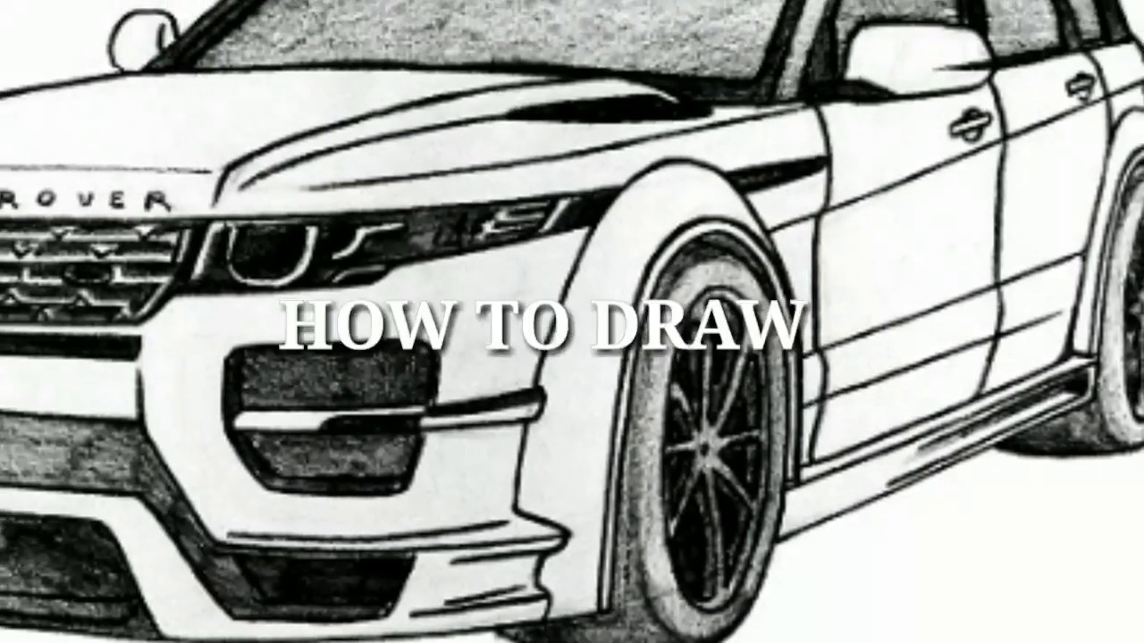 This is a photo of Vibrant Range Rover Drawing