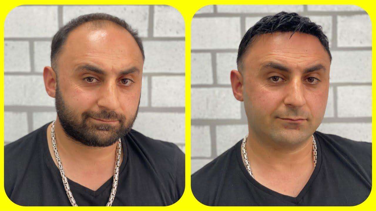 Wedding anniversary Day Surprising hair cut my wife + mega hair transformation asmr barber turko