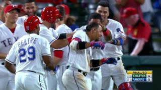 Rangers Walk Off On Odor's Hit-by-pitch