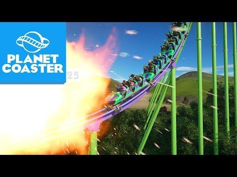 ACIDENTE DE MONTANHA-RUSSA? | Planet Coaster 25