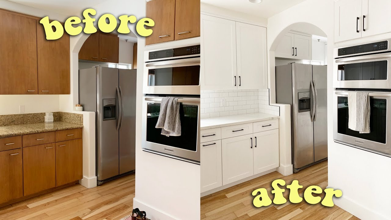 My Kitchen Remodel Crazy Before After Youtube