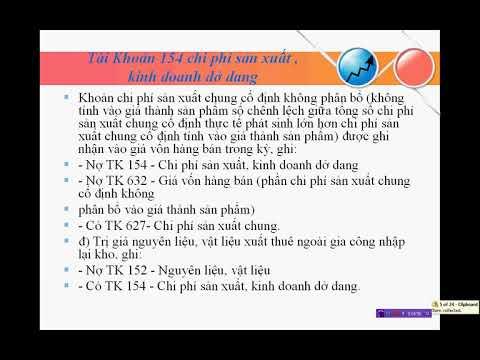 Hướng Dẫn Định Khoản Hạch Toán Tài Khoản 154 Chi Phí Sản Xuất Kinh Doanh