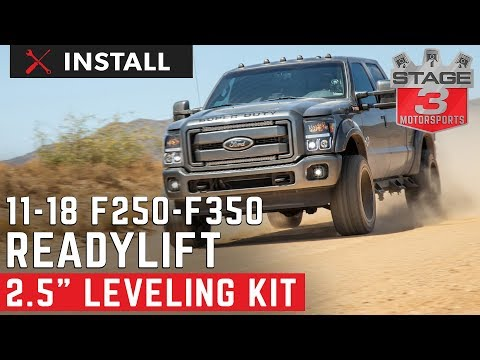 "2011-2018 F250 & F350 4WD ReadyLIFT 2.5"" Leveling Kit with Bilstein Shocks Install"