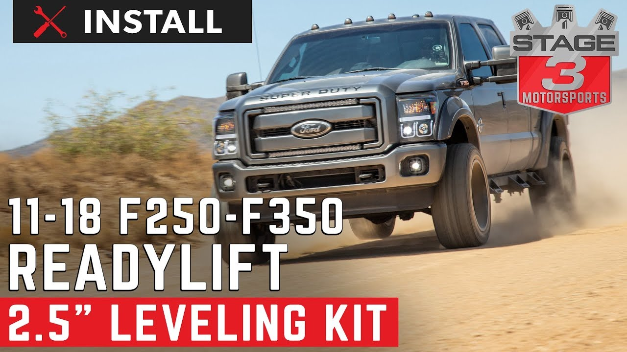 2011 2018 F250 F350 4wd Readylift 2 5 Leveling Kit With Bilstein Shocks Install Youtube