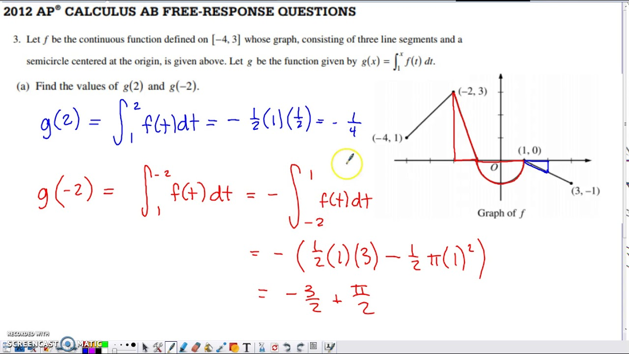2012 ap calculus ab free response form b
