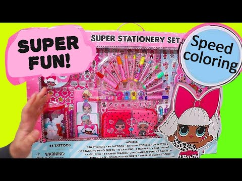 Giant LOL Coloring Set for Children ! Toys and Dolls Fun for Kids Drawing L.O.L. Surprise | SWTAD