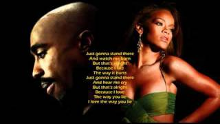 2Pac & Rihanna - Love The Way You Lie (KreZmix + Subs)