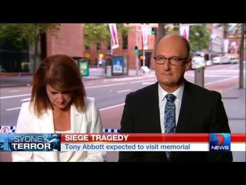 Sunrise host Natalie Barr fights back tears - Sydney Hostage Siege | Seven News | 16/12/2014