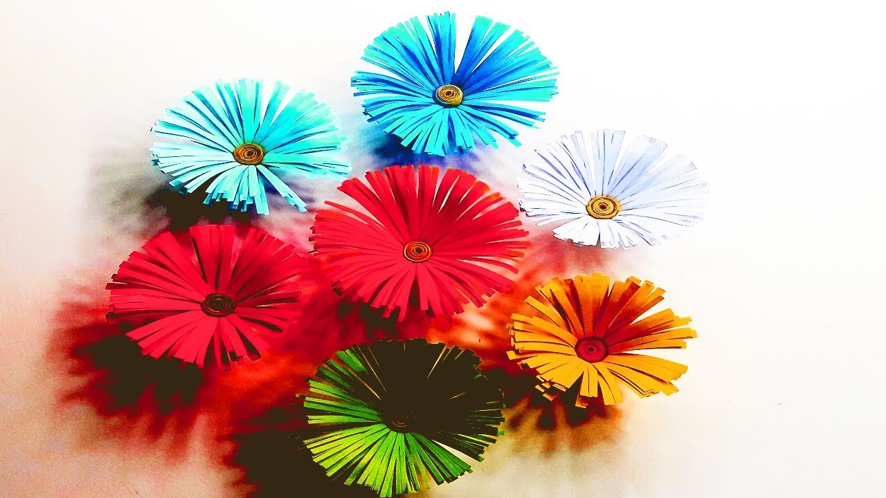 Origami Flower For Wall Hanging Wall Decoration Paper Flower For
