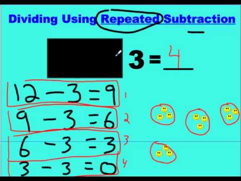 division using repeated subtraction youtube. Black Bedroom Furniture Sets. Home Design Ideas