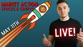 [LIVE] STOCKS & CRYPTO CRASHING?! BUY THE DIP??? || Predictions & Analysis