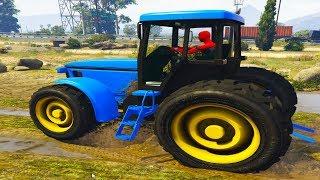 Мультик про Синий Трактор  Человек Паук спасает Синий Трактор песенки для детей  #Машинки #Трактор