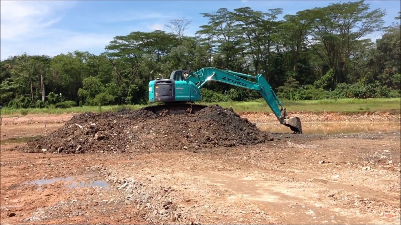 KOBELCO SK225SR-2 YB05-03100UP EXCAVATOR FOR RENT EXCAVATOR FOR SALE IN  SINGAPORE AT WORK