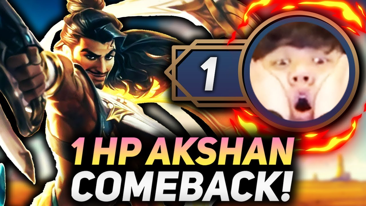 1 HP COMEBACK WITH AKSHAN CARRY!!   Teamfight Tactics Patch 11.15