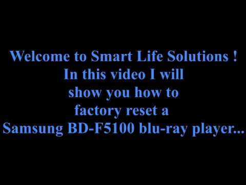 Factory reset  Samsung bluray player BDF5100 how to