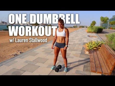 One Dumbbell Tabata Workout | Lauren Stallwood