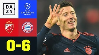 UCL-Rekord! 4 Lewy-Tore in unter 15 Minuten: Roter Stern - Bayern 0:6 | UEFA Champions League | DAZN