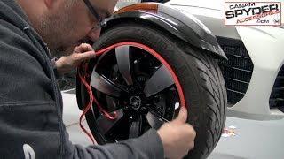 Installation - Rim Savers on a Can Am Spyder - CanAmSpyderAccessories