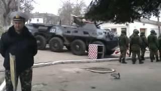 Российский спецназ покидает территорию воинской части (Севастополь) thumbnail