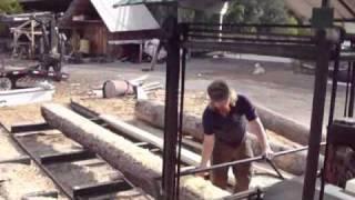 Swing Blade Sawmill In Action Missoula, Montana
