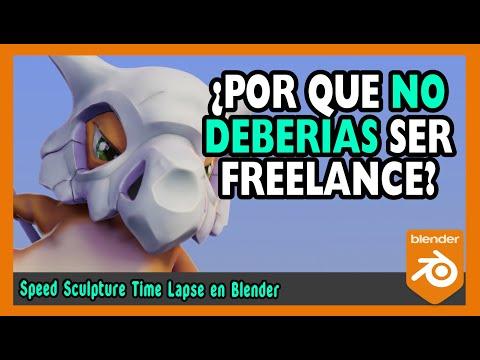 🤹♀️¿Por que no deberías ser freelance?🤹♀️   Escultura digital blender 2.9   Magnaomega