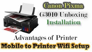 Canon Pixma G3010 Review & Installation full detail video