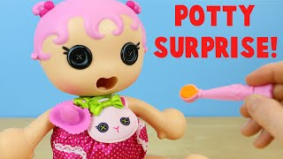 Lalaloopsy Babies Potty Surprise Doll Jewel Sparkles - Poops Colorful Surprises!
