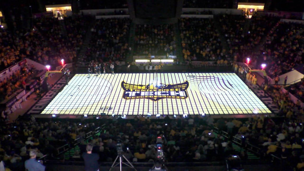 Tennessee Tech Mens Basketball 3D Court Projection YouTube