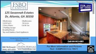 4 Bedroom Home For Sale With Fireplace In Atlanta Ga
