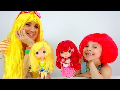 Видео для детей. Прогулка в студию с куклами