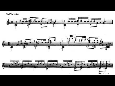 Yuquijiro Yocoh - Sakura Theme and Variations for Guitar (Score video)